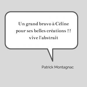 Un grand bravo à Céline pour ses belles créations !! vive l'abstrait