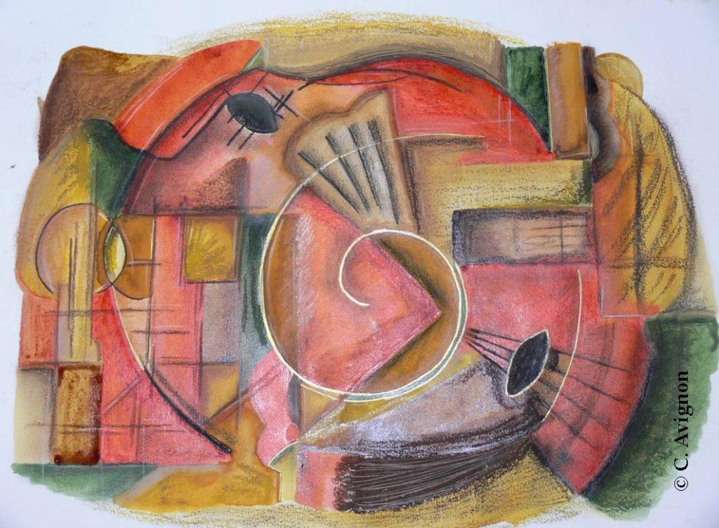 musique dorée-dessin-celine-avignon