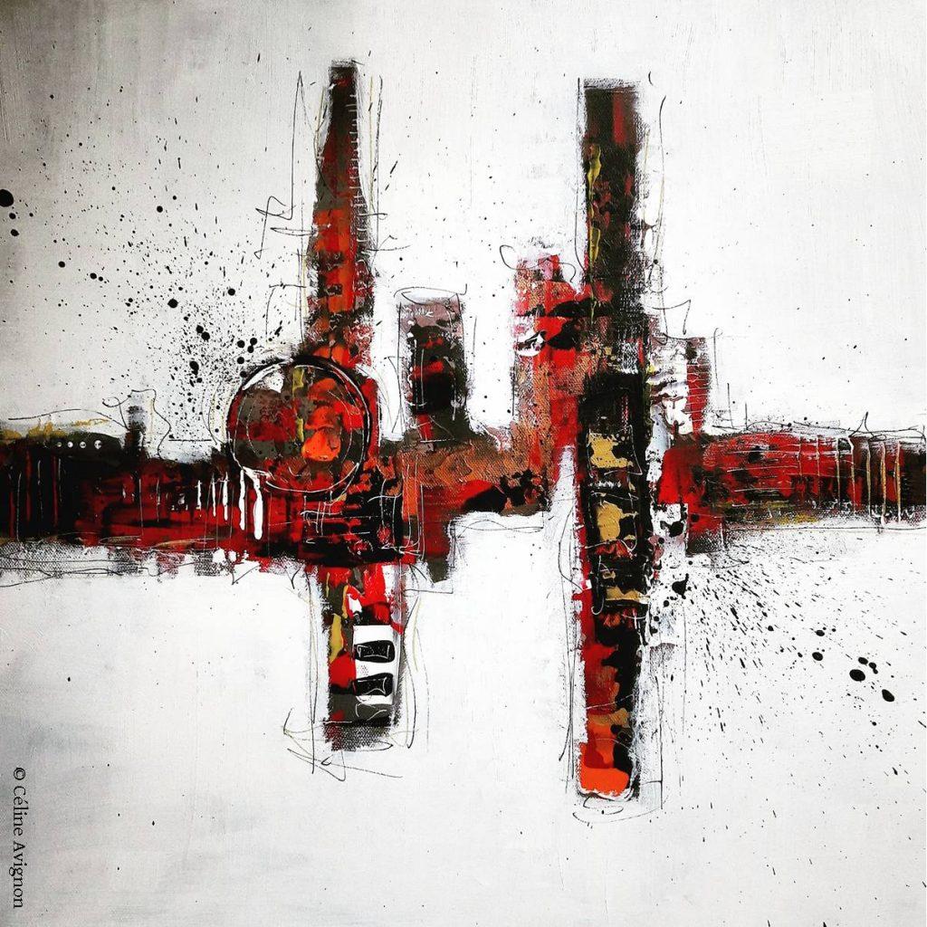 pulsation-peinture-moderne-acrylique-abstraite-celine-avignon