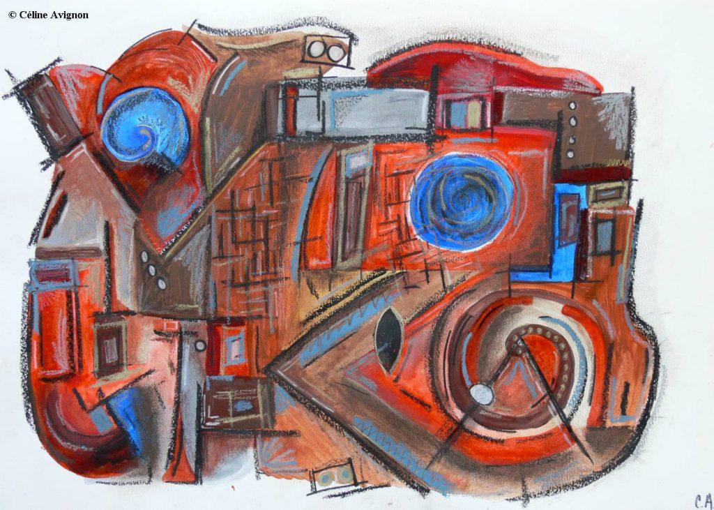 Musique bleue-dessin-celine-avignon